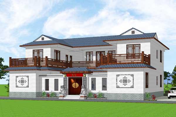乐山中式四合院自建别墅原创设计图纸