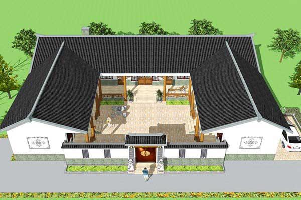 经典中式四合院自建别墅原创设计图纸