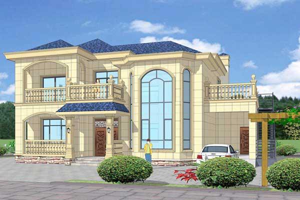 欧式两层自建别墅原创设计图纸