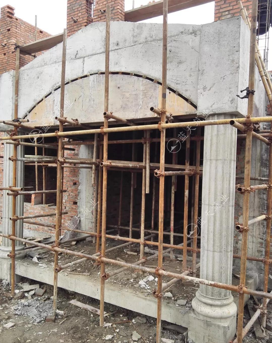 成都新繁别墅二楼砌砖