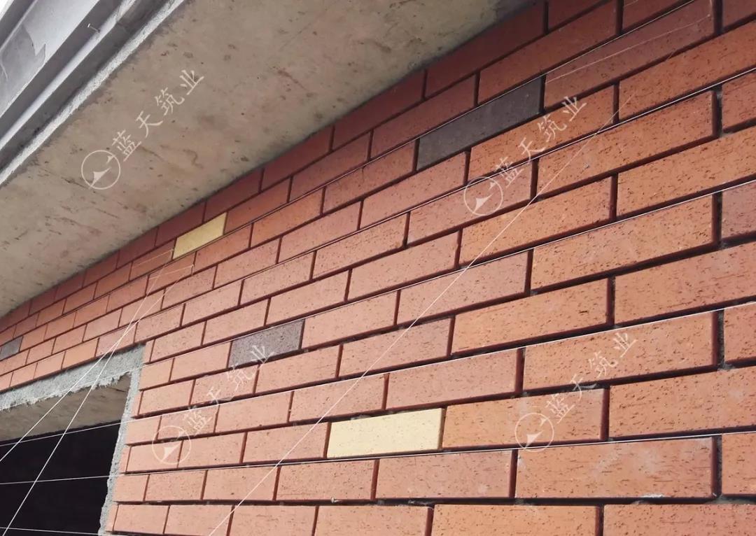成都新繁别墅墙面细节