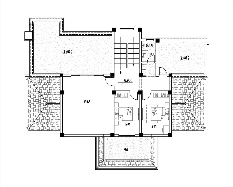 别墅三层设计图