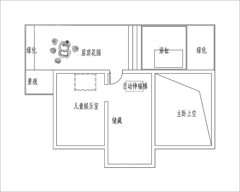 法式别墅三层布局图