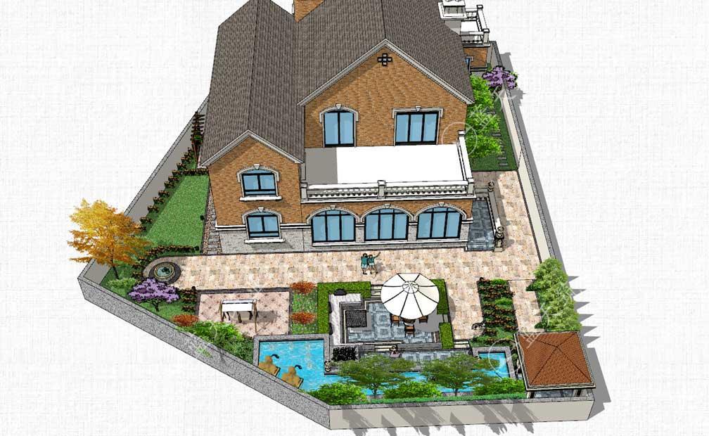 乐山美式乡村风格庭院设计