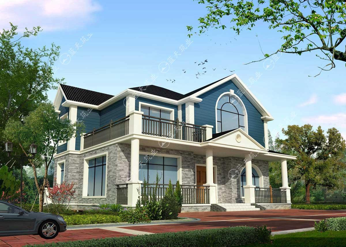 清新时尚美式别墅效果图