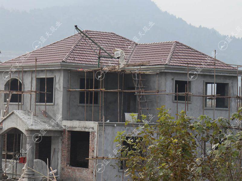 四川南充欧式别墅在建工地