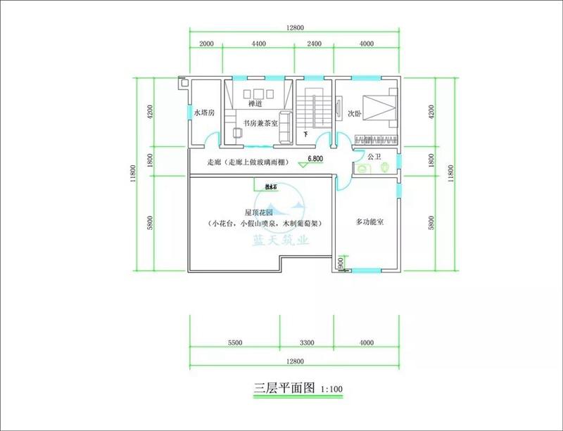 三层豪华欧式自建房设计三层图纸