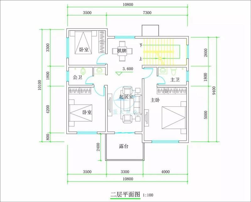 德阳经典欧式三层自建房设计二层图纸