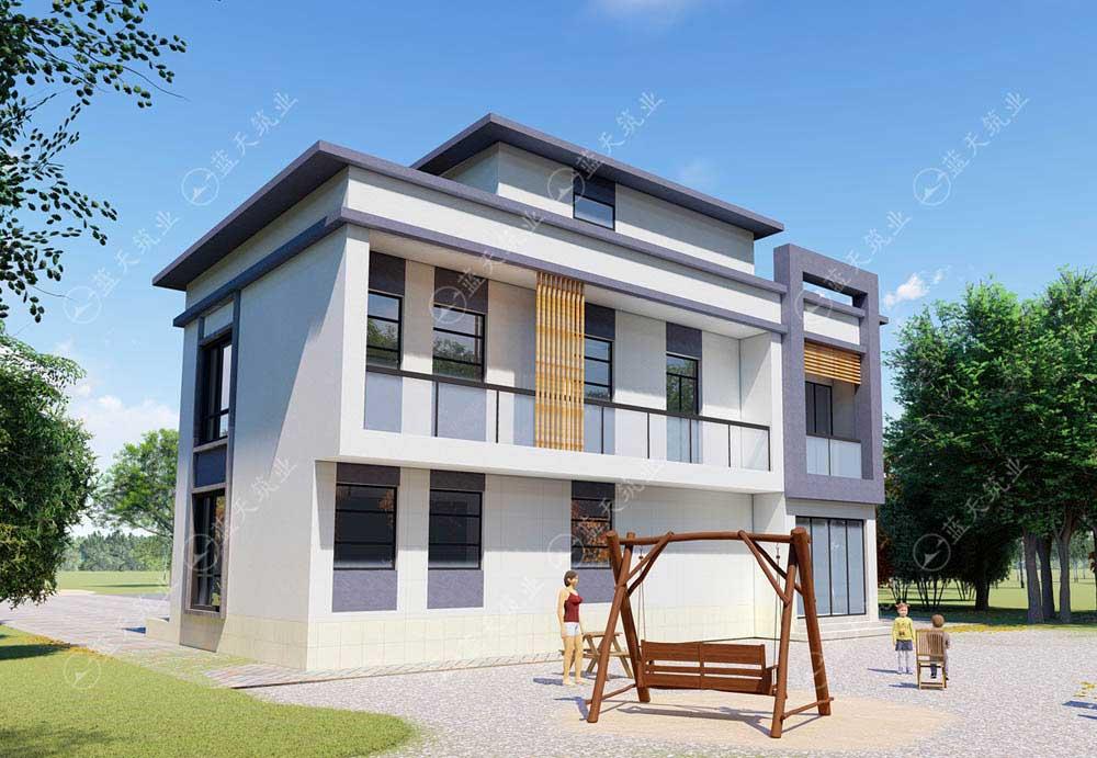 现代风格自建房设计效果图