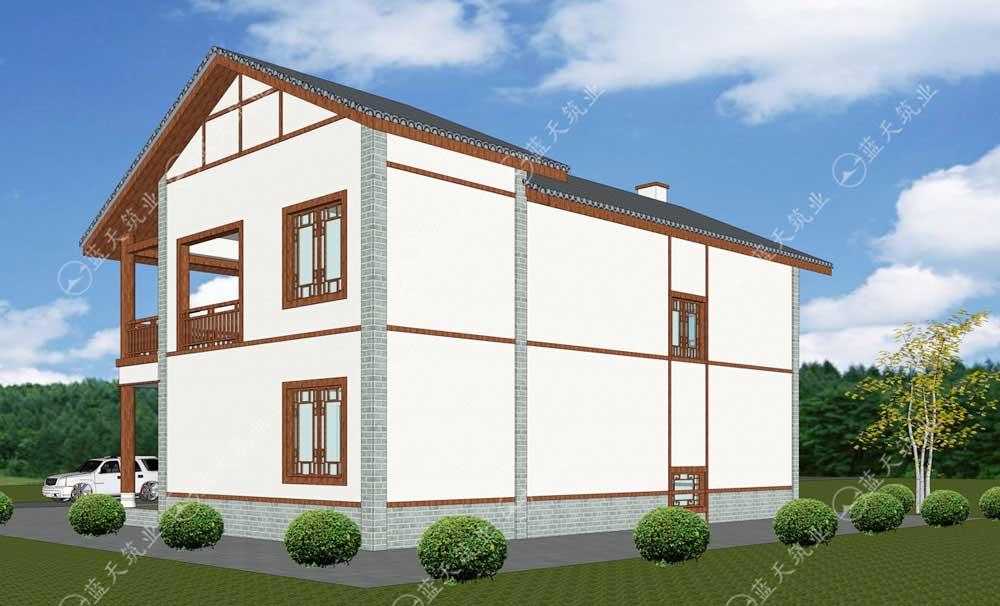 中式两层农村自建房设计图