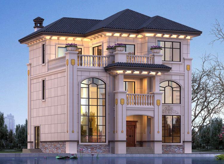 三层欧式自建房设计效果图