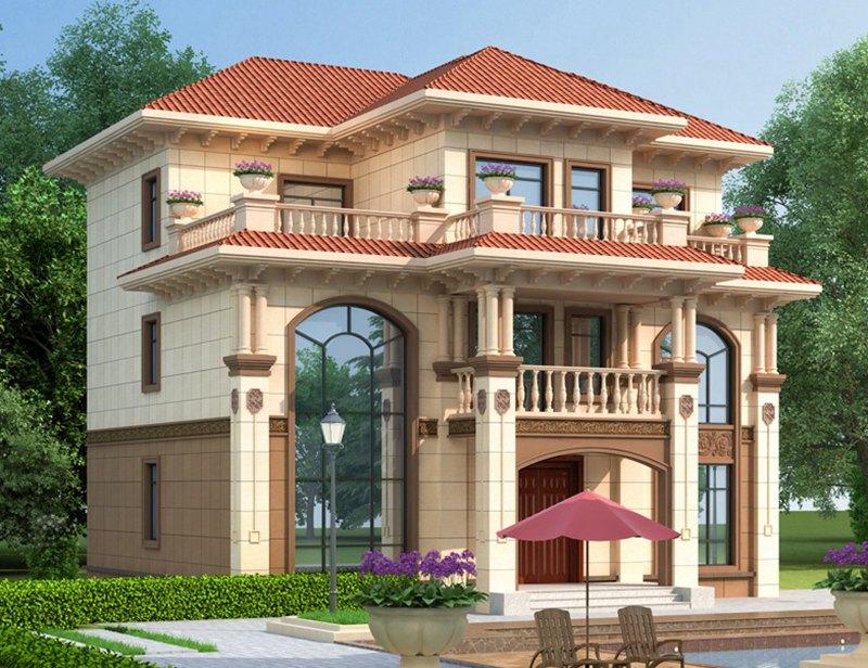农村三层欧式别墅设计案例
