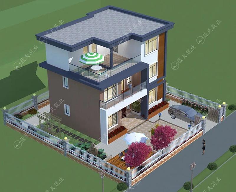 现代自建房设计效果图