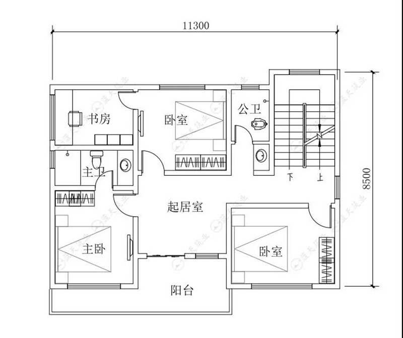 自建房设计二层平面布局图