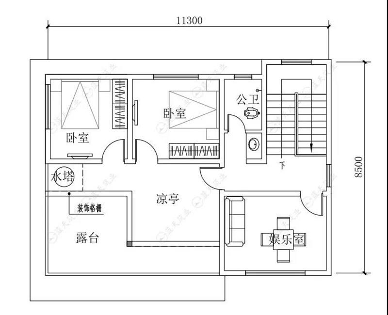 自建房设计三层平面布局图
