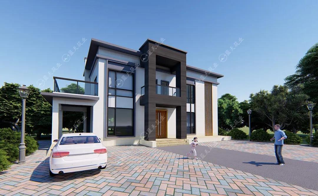 两层现代自建房设计图