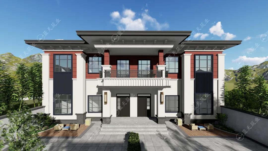 定制设计|17mx10m的双拼中式别墅,兄弟建房首选