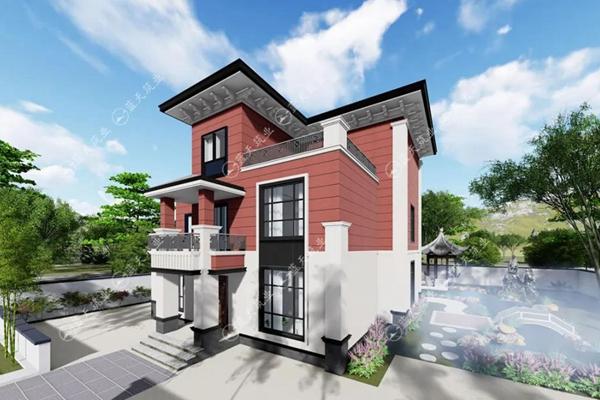 三层新中式农村别墅设计图