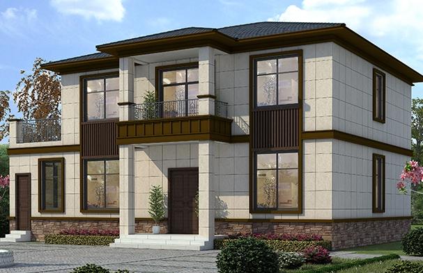农村两层新中式自建房设计图纸